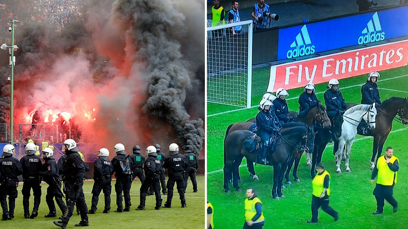 Hamburg fans rage after Bundesliga relegation despite win over Borussia Moenchengladbach