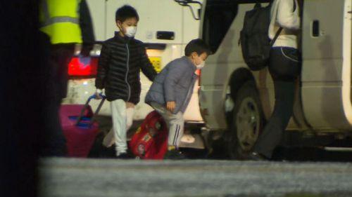 Wuhan evacuees arrive on Christmas Island