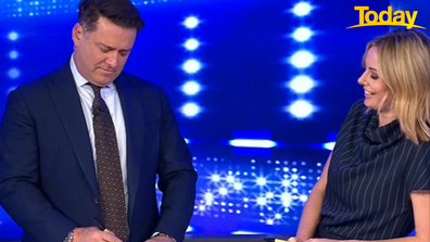 'I've always been a big fan of yours too,' Karl told Szubanski before writing her name on his card.