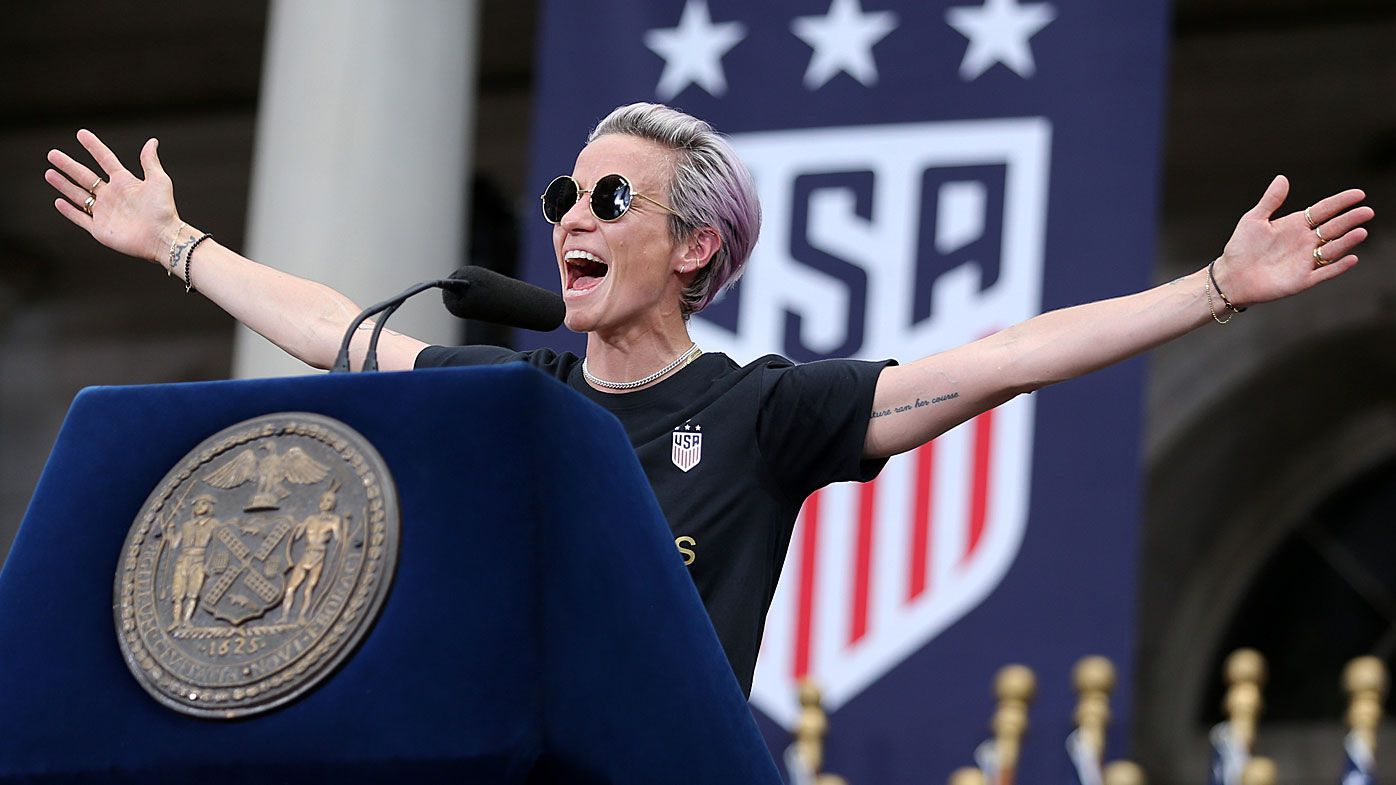 Women's World Cup winner Megan Rapinoe delivers stirring message for America