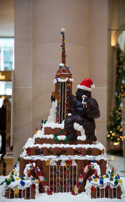 Cake Alchemy's King Kong creation at Le Parker Meridien Hotel, New York, USA