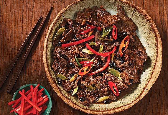 Kylie Kwong S Stir Fried Beef With Black Bean Sauce And Chilli
