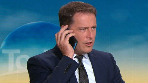 Co-host Karl Stefanovic poked fun at his colleague.