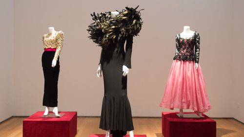 Also on display are a variety of evening fashions. (AFP)