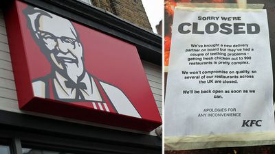 Cluckin' outrage! Chicken shortage shuts UK KFC stores