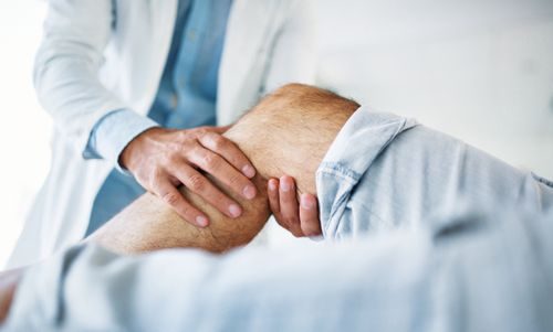 knee pain doctor medical health stock