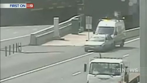 Eastlink released a series of near misses to warn drivers about staying safe on the roads. (9NEWS)