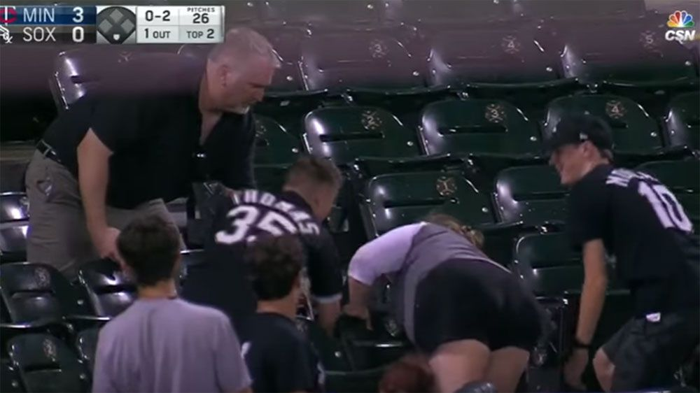Older fan snatches foul ball from younger supporter at MLB game