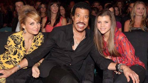 Lionel Richie with his daughters Nicole and Sofia.