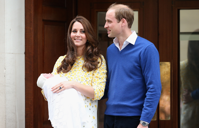Kate Middleton and Prince WIlliam with new baby