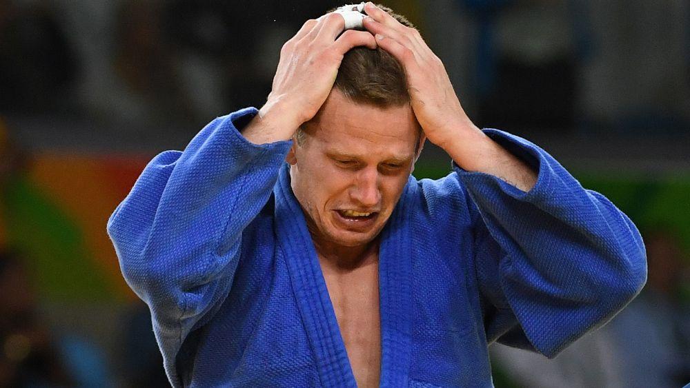 Dirk Van Tichelt after his Olympic match. (AFP)