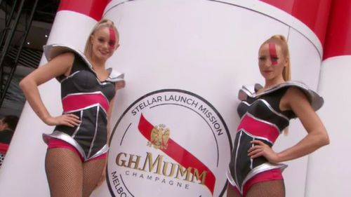 Ready for take-off: The Mumm Marquee features a rocket ship.