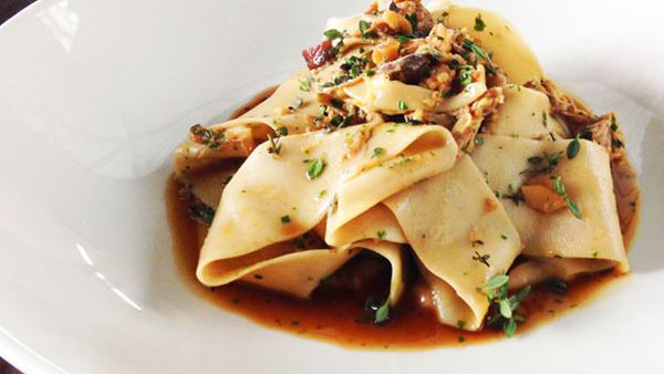 Cafe Sydney's chestnut pappardelle with pork ragu