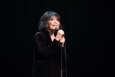 Juliette Greco performs at La Cigale in Paris, France in 2015