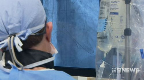 The procedure works by inserting a tube into the heart through a vein in the patient's leg. (9NEWS)