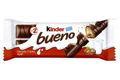 Kinder Bueno: Almost 4.5 teaspoons of sugar