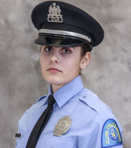 """This undated photo released by the St. Louis Police Department shows officer Katlyn Alix. St. Louis police say an officer """"mishandled"""" a gun and accidentally shot and killed Alix early Thursday, Jan. 24, 2019, at an officer's home."""