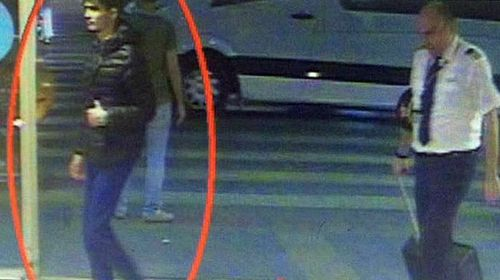 This CCTV image shows a man (left) suspected of being one of the suicide bombers involved in the Istanbul airport bombing.
