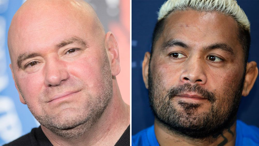 Dana White and Mark Hunt.