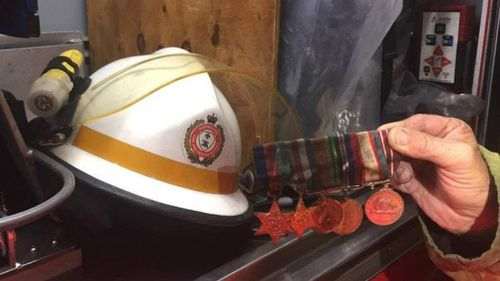 Fire crews rescued the veteran's war medals. (9NEWS)