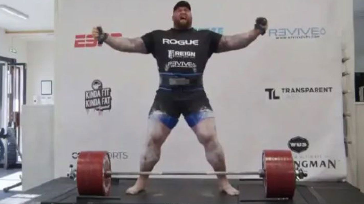 Hafthor Bjornsson, aka The Mountain, makes 501kg deadlift to break world record
