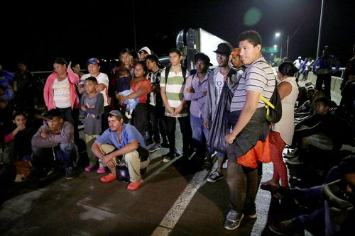 While the El Salvador migrants are currently travelling with their Honduran neighbours, there is a possibility they may branch off into their own caravan.