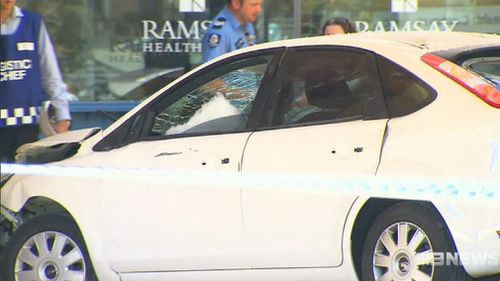 The car was being driven by a woman in the 80s. (9NEWS)