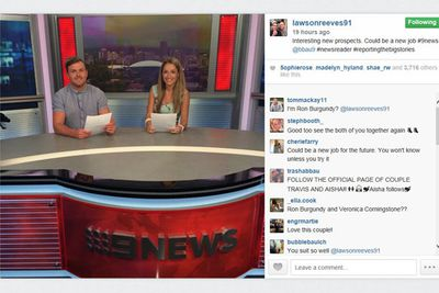 @lawsonreeves91: Interesting new prospects. Could be a new job #9news @bbau9 #newsreader #reportingthebigstories