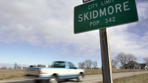 Outside the town of Skidmore, Missouri.