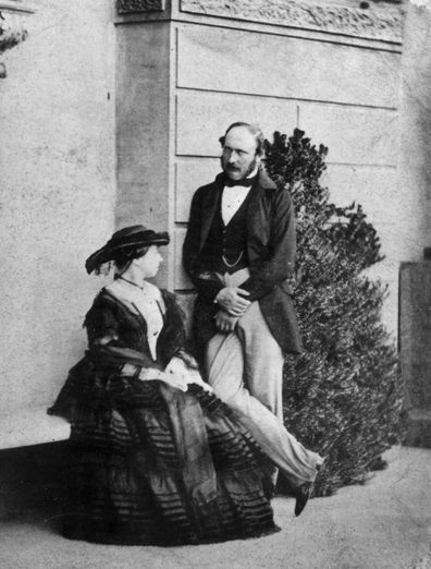 Queen Victoria (1819 - 1901) with Prince Albert, the Prince Consort (1819 - 1861).