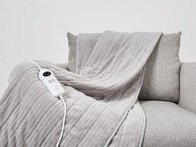 Heated Throw (Grey) — Kmart