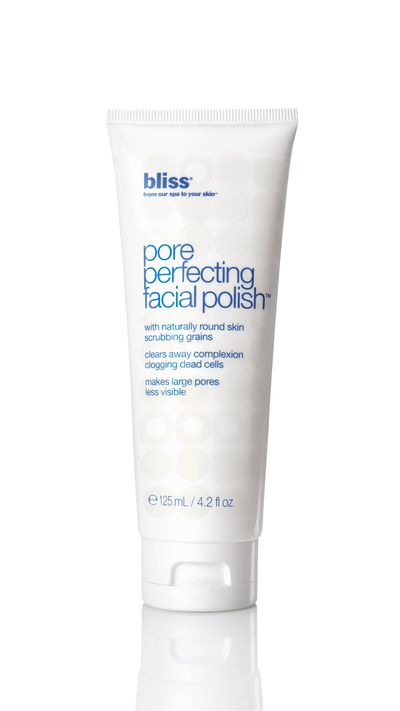 "<a href=""https://www.priceline.com.au/skincare/face-care/facial-cleansers-and-scrubs/pore-perfecting-facial-polish-125-ml"" target=""_blank"">Pore Perfecting Facial Polish, $39.99, Bliss</a>"