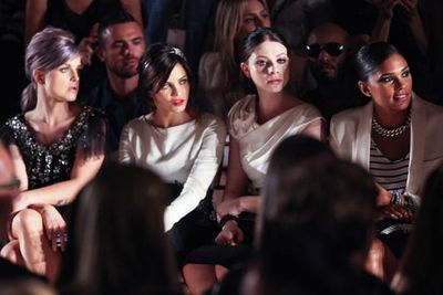 Kelly Osbourne kept herself busy, snapped again at another show, this time with actresses Jenna Dewan and Michelle Trachtenberg, and designer Rachel Roy.