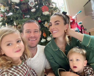 Armie Hammer, Elizabeth Chambers and their kids Harper and Ford.