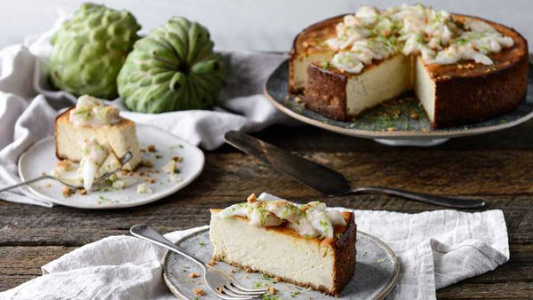 Ricotta and custard apple cheesecake