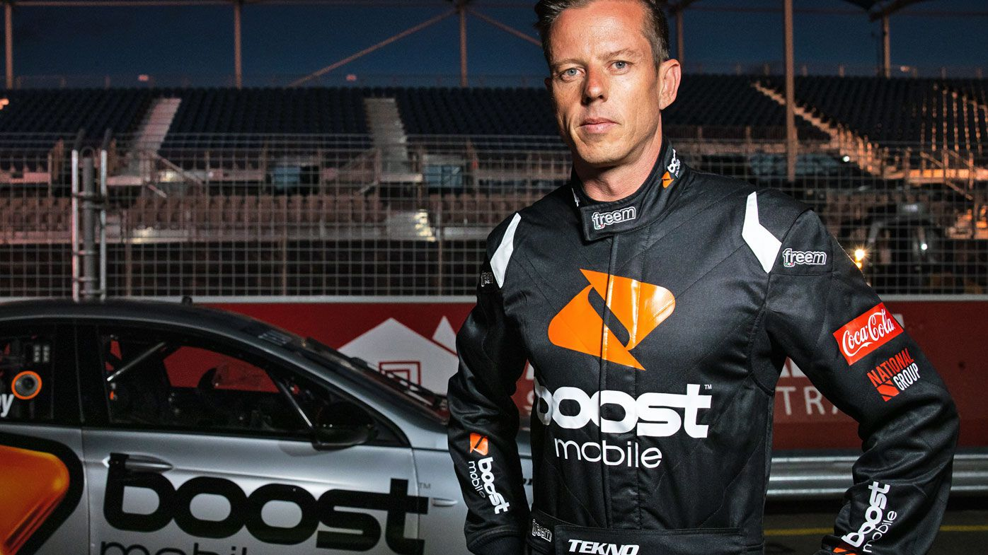 James Courtney driver of the #19 Boost Mobile Team