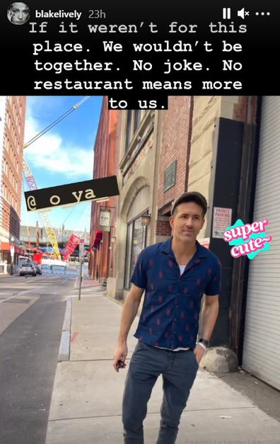 Ryan Reynolds and Blake Lively revisit sushi restaurant where their love story began.
