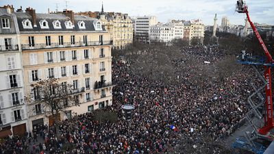 "The interior ministry said turnout for the Paris rally was ""unprecedented"" while French television said rallies across the nation were unseen since the 1944 Liberation of Paris from Nazi occupation. (Getty Images)"