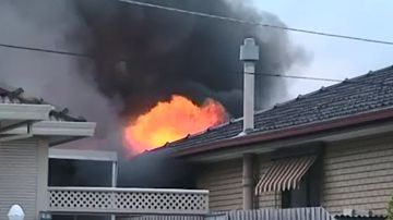 Family of five flee burning home