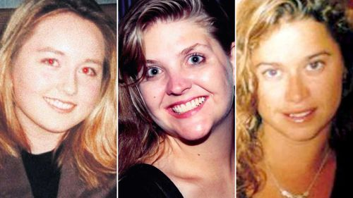 Edwards entered the not guilty plea for the killings of Jane Rimmer, Ciara Glennon and Sarah Spiers. Picture: Supplied.