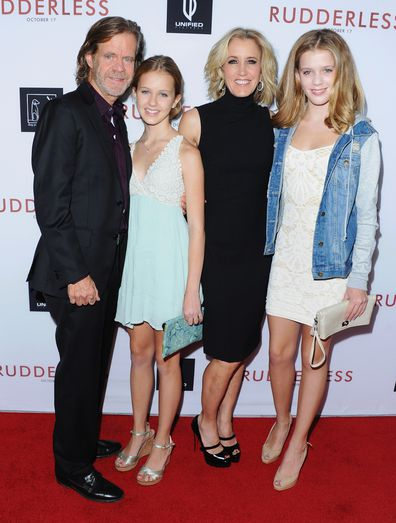 William H. Macy, Felicity Huffman, Georgia Macy and Sofia Macy