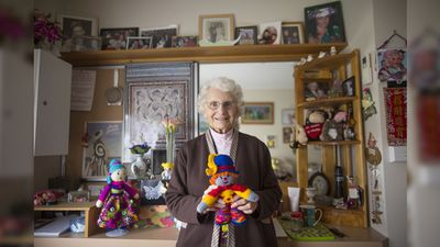 <p>Edith Jackson, 91, knits toys for disadvantaged children. </p><p>Her creations are sent overseas through Pacific Asian Children. As a young woman, she also volunteered as a lifesaver at the Mentone Lifesaving Club.</p>