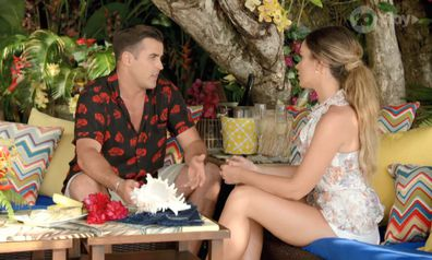 Florence Moerenhout and Davey Lloyd from Bachelor in Paradise