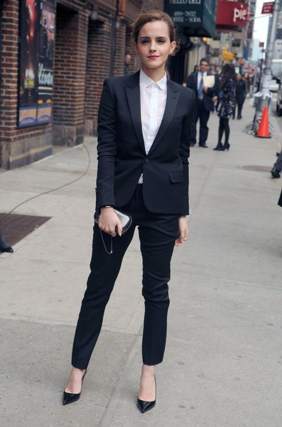 Emma Watson in Saint Laurent in New York, March, 2014