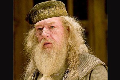 """If Harry's not, who is? Albus Dumbledore! J.K. Rowling shocked fans when she revealed her fictional Hogwarts headmaster is actually gay. He appears asexual in the novels and films, but Rowling insisted that Dumbledore had fallen for Gellert Grindelwald but """"lost his moral compass completely when he fell in love and I think subsequently became very mistrustful of his own judgment in those matters so became quite asexual""""."""