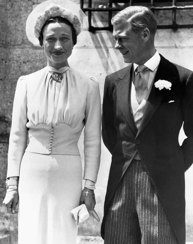Edward VIII and Wallace Simpson were wed in France on June 8, 1937. They were granted the status of Duke and Duchess of Windsor by Edwards younger brother King George VI.