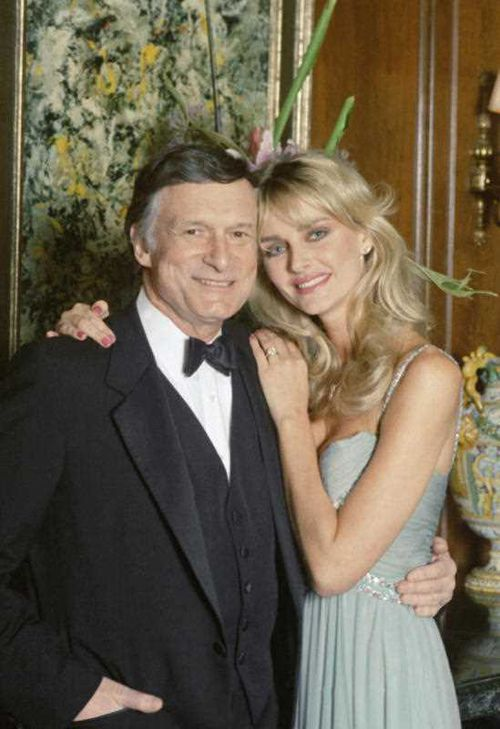 Hef and his second wife Kimberley Conrad. (AAP)