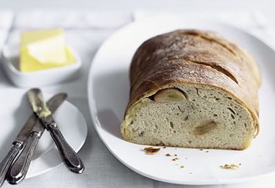 Confit garlic and thyme bread