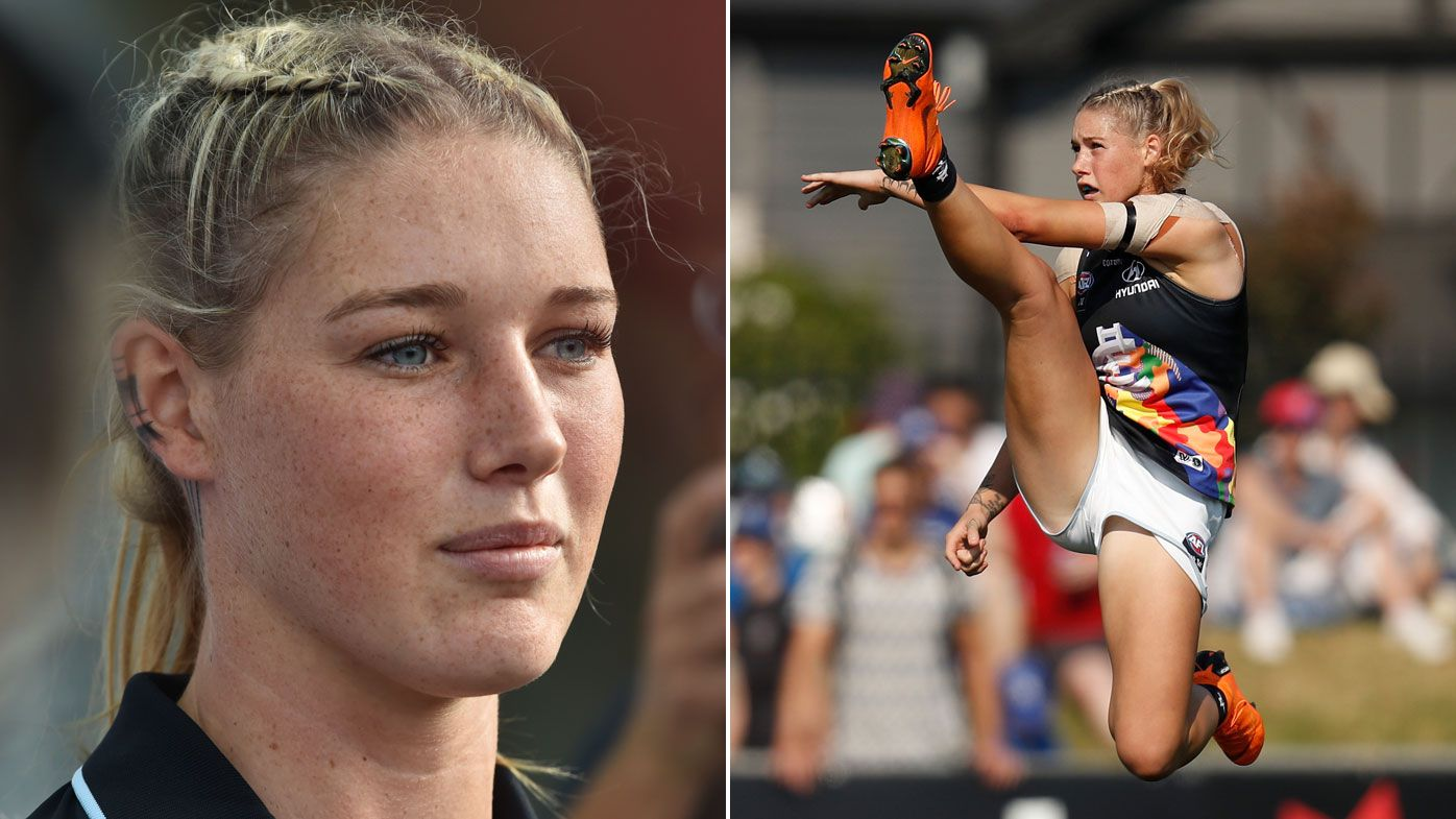 AFL will attempt to find and ban trolls over Tayla Harris picture abuse