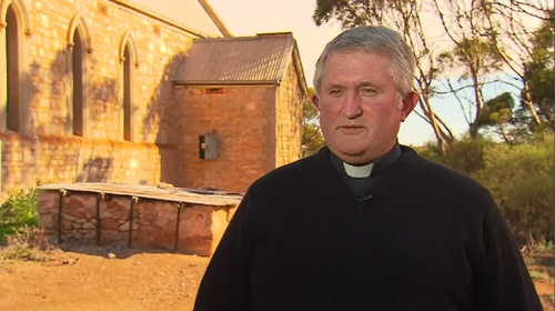 Father David Thompson from  the church said there are serious discussions now about whether the church can continue on with its services. Picture: 9NEWS.